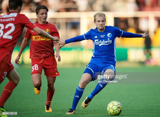 Nicolai Boilesen of FC Copenhagen in action during the Danish Alka Superliga match between FC Nordsjalland and FC Copenhagen at Right to Dream Park...