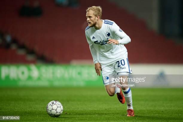 Nicolai Boilesen of FC Copenhagen in action during the Danish Alka Superliga match between FC Copenhagen and Randers FC at Telia Parken Stadium on...