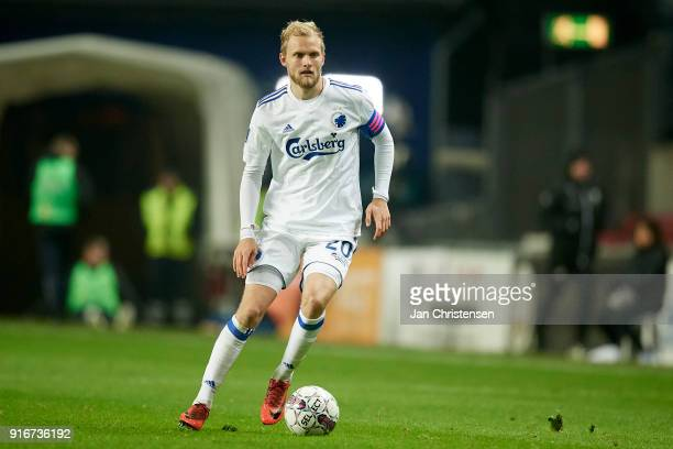 Nicolai Boilesen of FC Copenhagen in action during the Danish Alka Superliga match between FC Copenhagen and Randers FC at Telia Parken Stadium on...