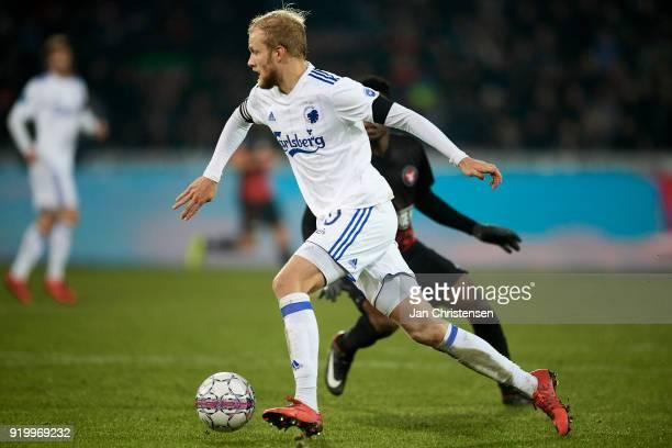 Nicolai Boilesen of FC Copenhagen in action during the Danish Alka Superliga match between FC Midtjylland and FC Copenhagen at MCH Arena on February...