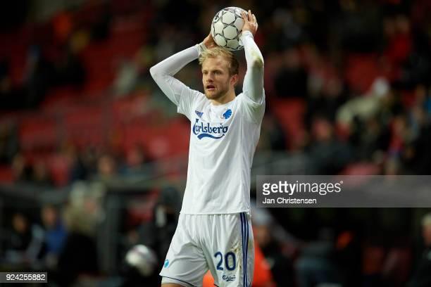 Nicolai Boilesen of FC Copenhagen in action during the Danish Alka Superliga match between FC Copenhagen and OB Odense at Telia Parken Stadium on...
