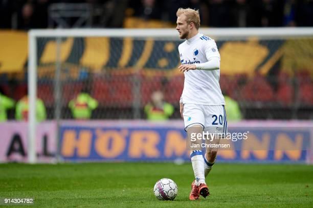 Nicolai Boilesen of FC Copenhagen in action during the Danish Cup DBU Pokalen match between FC Copenhagen and Brondby IF in Telia Parken Stadium on...