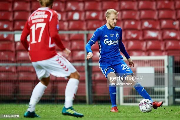 Nicolai Boilesen of FC Copenhagen in action during the test match between FC Copenhagen and Vejle Boldklub in Telia Parken Stadium on January 18 2018...