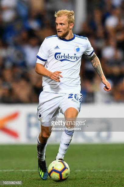 Nicolai Boilesen of FC Copenhagen in action during the UEFA Europa League PlayOff between Atalanta BC and FC Copenhagen at Mapei Stadium Citta' del...