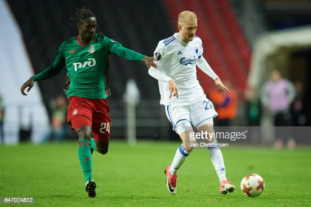 Nicolai Boilesen of FC Copenhagen in action during the UEFA Europa League Group Stage match between FC Copenhagen and Lokomotiv Moskva at Telia...