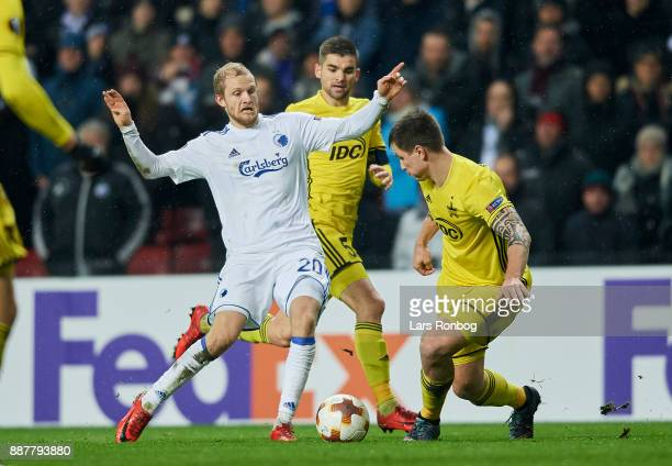 Nicolai Boilesen of FC Copenhagen in action during the UEFA Europa League match between FC Copenhagen and FC Sheriff at Telia Parken Stadium on...