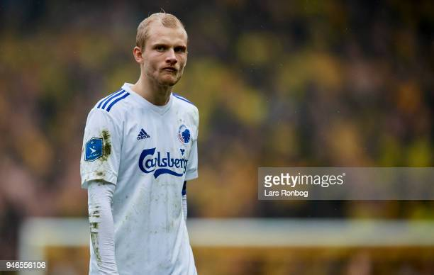 Nicolai Boilesen of FC Copenhagen looks dejected after the Danish Alka Superliga match between Brondby IF and FC Copenhagen at Brondby Stadion on...