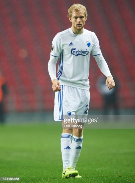 Nicolai Boilesen of FC Copenhagen looks on during the UEFA Europa League Round of 32 second leg match match between FC Copenhagen and PFC Ludogorets...