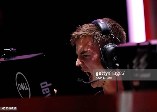 Nicolai 'dev1ce' Reedtz of Astralis reacts during the ELEAGUE CounterStrike Global Offensive Major Championship finals at Fox Theater on January 29...