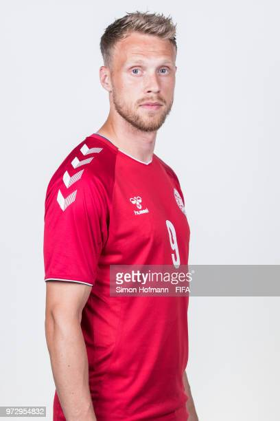 Nicolai Joergensen of Denmark poses during official FIFA World Cup 2018 portrait session on June 12 2018 in Anapa Russia