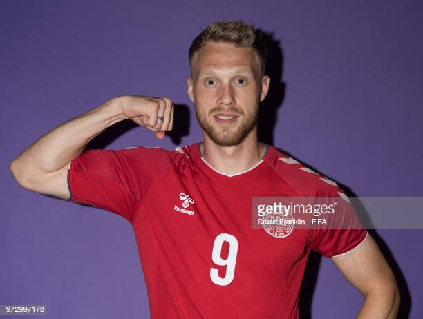 Nicolai Joergensen of Denmark poses for a picture during the official FIFA World Cup 2018 portrait session at on June 12 2018 in Anapa Russia