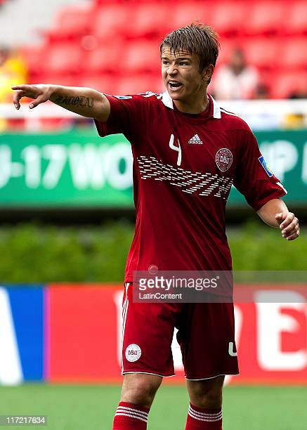 Nicolai Johannessen of Denmark reacts during the FIFA U17 World Cup Mexico 2011 Group F match between Ivory Coast and Denmark at the Guadalajara...