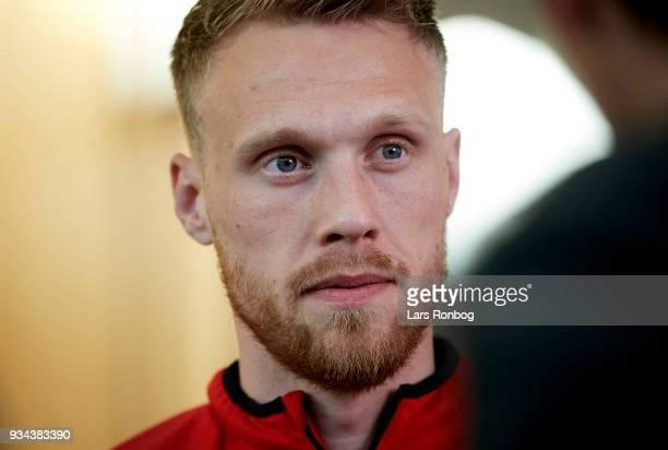 Nicolai Jorgensen of Denmark during the Denmark press conference at Clarion Hotel Copenhagen Airport on March 19 2018 in Copenhagen Denmark