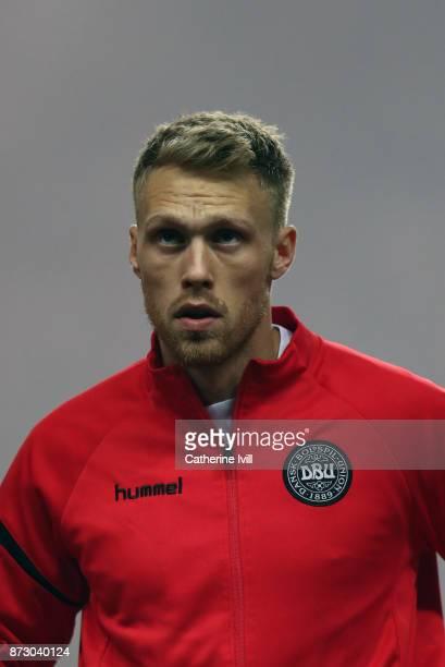 Nicolai Jorgensen of Denmark during the FIFA 2018 World Cup Qualifier PlayOff First Leg between Denmark and Republic of Ireland at Telia Parken on...