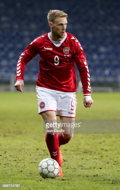 Nicolai Jorgensen of Denmark during the international friendly match between Denmark and Panama at Brondby Stadion on March 22 2018 in Brondby Denmark
