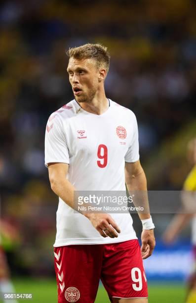 Nicolai Jorgensen of Denmark during the International Friendly match between Sweden and Denmark at Friends Arena on June 2 2018 in Solna Sweden