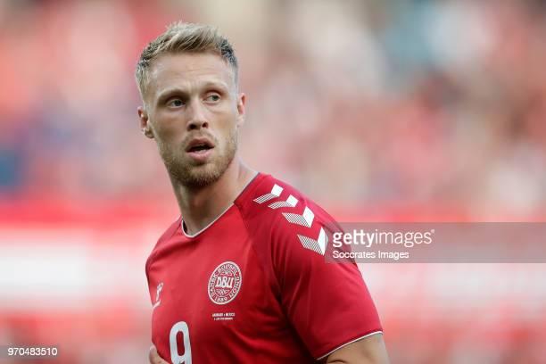 Nicolai Jorgensen of Denmark during the International Friendly match between Denmark v Mexico at the Brondby Stadium on June 9 2018 in Copenhagen...