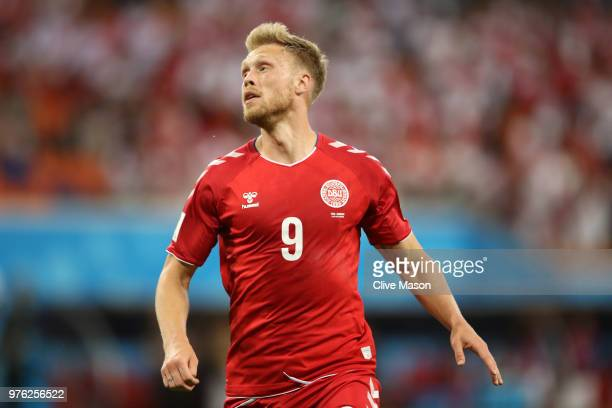 Nicolai Jorgensen of Denmark looks on during the 2018 FIFA World Cup Russia group C match between Peru and Denmark at Mordovia Arena on June 16 2018...