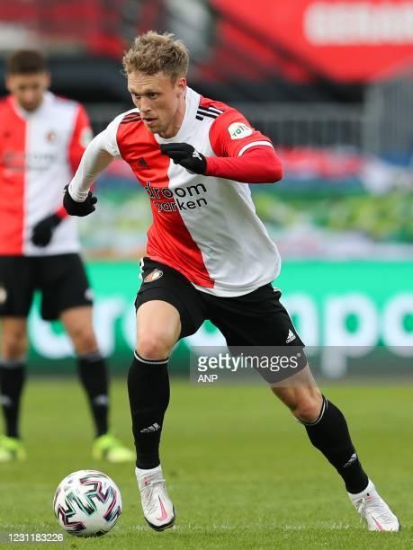 Nicolai Jorgensen of Feyenoord during the Dutch Eredivisie match between Feyenoord Rotterdam and Willem II Tilburg in the Kuip on February 14, 2021...