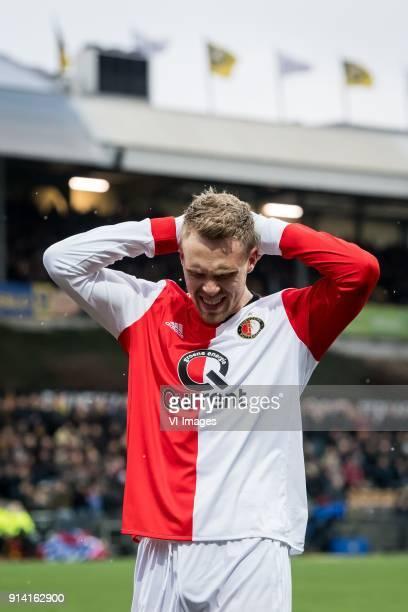 Nicolai Jorgensen of Feyenoord during the Dutch Eredivisie match between VVV Venlo and Feyenoord Rotterdam at Seacon stadium De Koel on February 04...