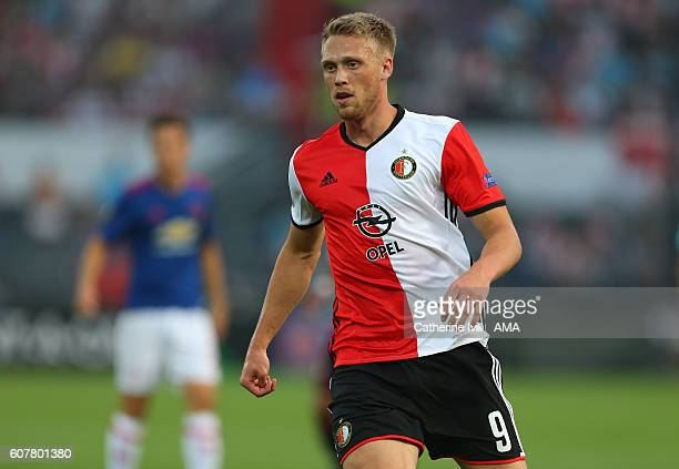 Nicolai Jorgensen of Feyenoord during the UEFA Europa League match between Feyenoord and Manchester United at Feijenoord Stadion on September 15 2016...