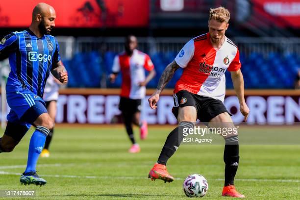 Nicolai Jorgensen of Feyenoord Rotterdam during the Dutch Eredivisie match between Feyenoord Rotterdam and Ajax at Stadion Feijenoord De Kuip on May...