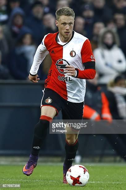 Nicolai Jorgensen of Feyenoord Rotterdamduring the Dutch Eredivisie match between Feyenoord Rotterdam and Sparta Rotterdam at the Kuip on December 04...