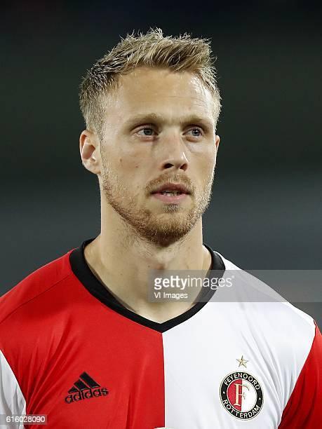 Nicolai Jorgensen of Feyenoordduring the Europa League group A match between Feyenoord and Zorya Luhansk on October 20 2016 at the Kuip stadium in...