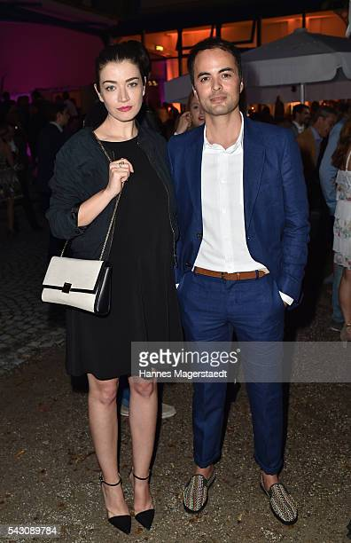 Nicolai Kinski and Anna Bederke attend the Audi Director's Cut during the Munich Film Festival 2016 at Praterinsel on June 25 2016 in Munich Germany