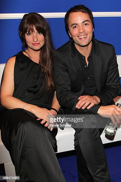 Nicolai Kinski and his girlfriend Ina Paule Klink attend the after show party of Goldene Kamera 2014 Hangar 7 at Tempelhof Airport on February 1,...