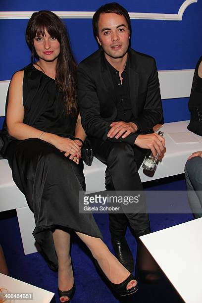 Nicolai Kinski and his girlfriend Ina Paule Klink attend the after show party of Goldene Kamera 2014 Hangar 7 at Tempelhof Airport on February 1 2014...