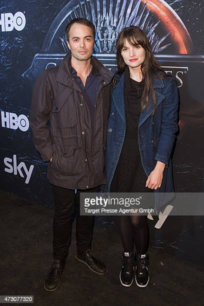 Nicolai Kinski and Ina Paule Klink attend the pre opening party of the exhibition 'Game of Thrones Die Ausstellung' on May 12 2015 in Berlin Germany