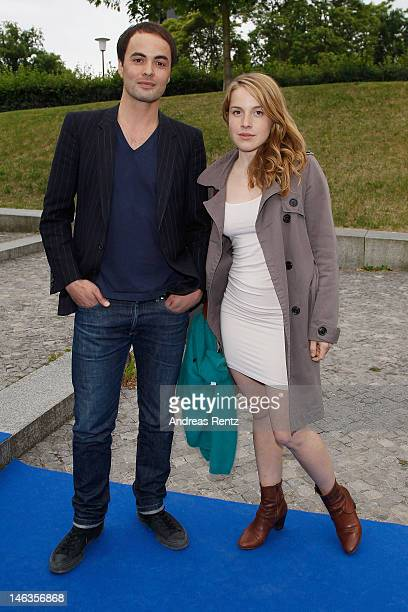 Nicolai Kinski and Paula Kalenberg attend the producer party 2012 of the German producers alliance on June 14 2012 in Berlin Germany