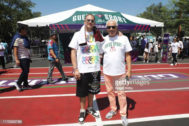 Nicolai Marciano and Paul Marciano attend GUESS SPORT Field Day Experience hosted by GUESS JEANS USA on August 24 2019 in Los Angeles California
