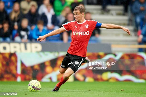 Nicolai Poulsen of Randers FC in action during the Danish Superliga match between Randers FC and AGF Arhus at BioNutria Park Randers on August 12...