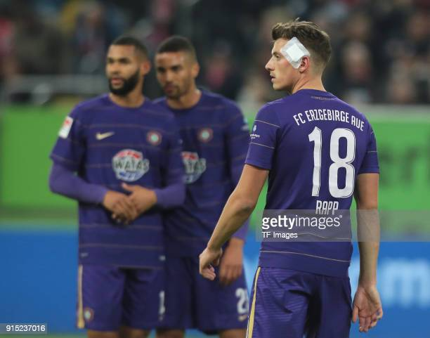 Nicolai Rapp of Aue looks on during the Second Bundesliga match between Fortuna Duesseldorf and FC Erzgebirge Aue at ESPRIT arena on January 24 2018...