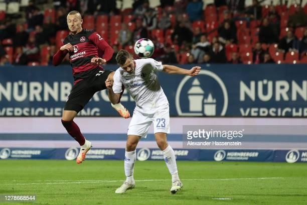 Nicolai Rapp of Darmstadt scores the winning goal during the Second Bundesliga match between 1. FC Nürnberg and SV Darmstadt 98 at...