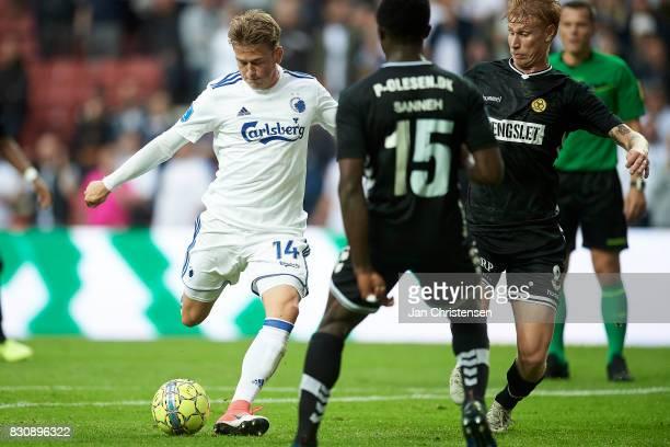 Nicolaj Thomsen of FC Copenhagen in action during the Danish Alka Superliga match between FC Copenhagen and AC Horsens at Telia Parken Stadium on...