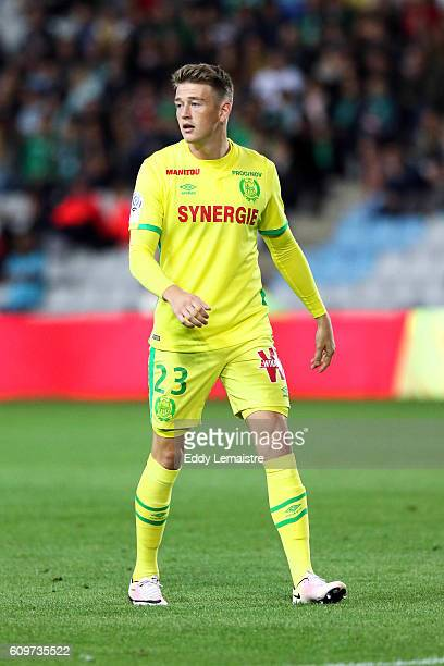 Nicolaj Thomsen of FC Nantes during the French Ligue 1 game between FC Nantes and AS SaintEtienne at Stade de la Beaujoire on September 21 2016 in...