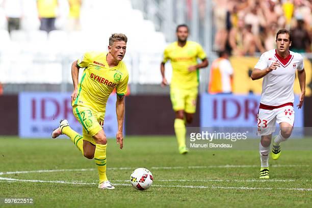 Nicolaj Thomsen of Nantes during the French Ligue 1 match between Bordeaux and Nantes at Nouveau Stade de Bordeaux on August 28 2016 in Bordeaux...