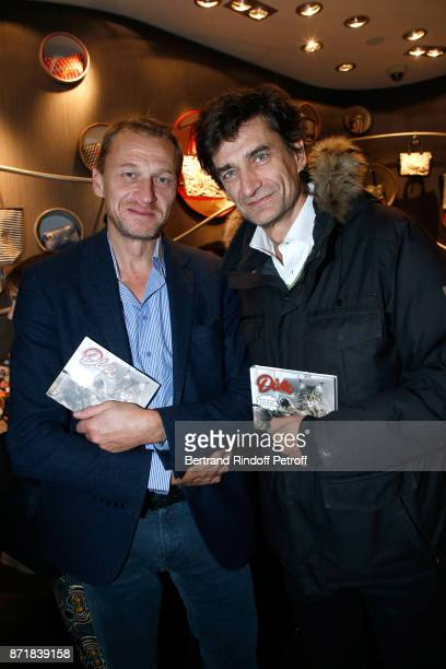 Nicolas Altmayer and his brother Eric Altmayer attend Reem Kherici signs her book 'Diva' at the Barbara Rihl Boutique on November 8 2017 in Paris...