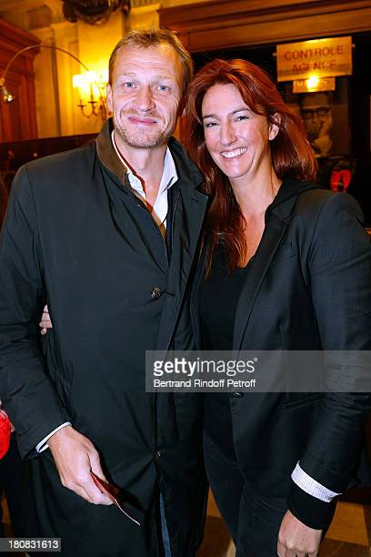 Nicolas Altmayer and his wife attend 'Nina' Premiere at Theatre Edouard VII on September 16 2013 in Paris France