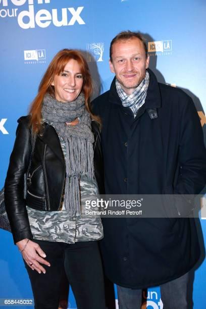 Nicolas Altmayer and his wife attend the 'Un profil pour deux' Paris Premiere at Cinema UGC Normandie on March 27 2017 in Paris France