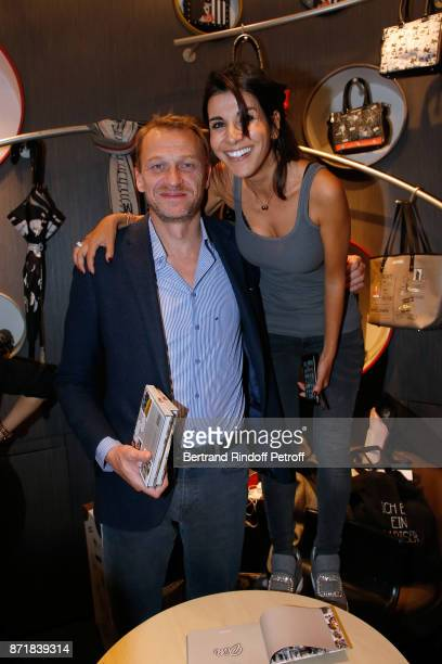 Nicolas Altmayer and Reem Kherici attend Reem Kherici signs her book 'Diva' at the Barbara Rihl Boutique on November 8 2017 in Paris France