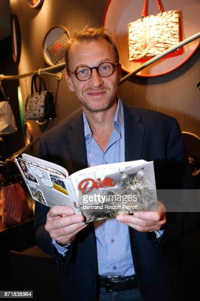 Nicolas Altmayer attends Reem Kherici signs her book 'Diva' at the Barbara Rihl Boutique on November 8 2017 in Paris France