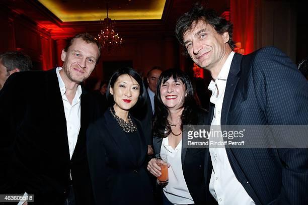 Nicolas Altmayer French minister of Culture Communication Fleur Pellerin Producer Sylvie Pialat and Eric Altmayer attend the 'Daniel Toscan du...