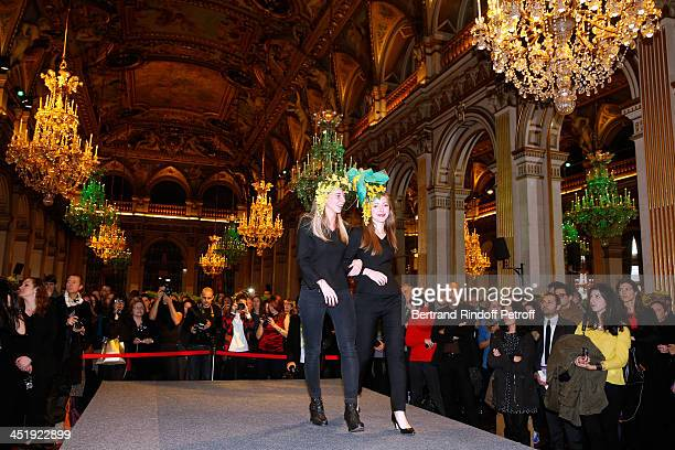 Nicolas and Catherinette from Dior attend Sainte-Catherine Celebration at Mairie de Paris on November 25, 2013 in Paris, France.