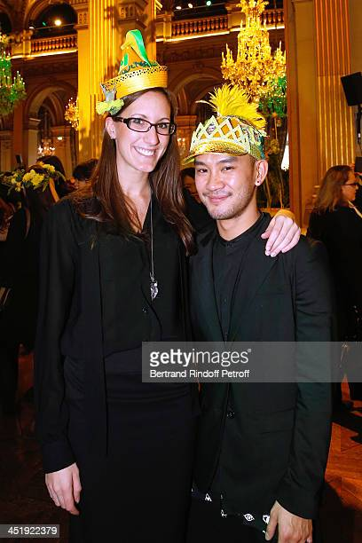 Nicolas and Catherinette from Jean-Paul Gaultier attend Sainte-Catherine Celebration at Mairie de Paris on November 25, 2013 in Paris, France.
