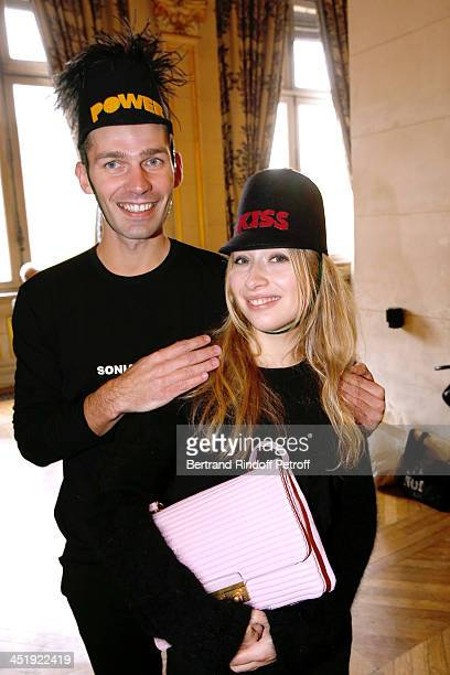 Nicolas and Catherinette from Sonia Rykiel attend Sainte-Catherine Celebration at Mairie de Paris on November 25, 2013 in Paris, France.