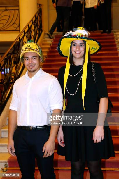 Nicolas and Catherinette of Chanel attend the 'Comite Montaigne' Celebrates SainteCatherine with Maisons de Couture of Avenue Montaigne On this...